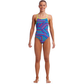 Funkita Strapped In One Piece Badpak Meisjes, chain reaction